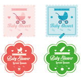 Baby Shower Template Cards Illustration Editable Stock Photos