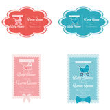Baby Shower Template Cards Illustration Editable Royalty Free Stock Photos