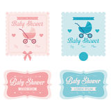 Baby Shower Template Cards Illustration Editable Stock Images