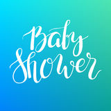 Baby Shower text. Custom lettering Invitation for baby arrival. Royalty Free Stock Image