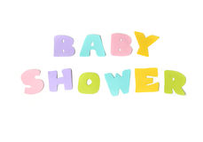 Baby shower text on white background Stock Photography