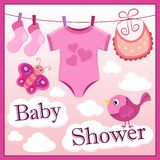 Baby shower theme image 2 Royalty Free Stock Image