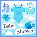 Baby shower theme image 1 Royalty Free Stock Images