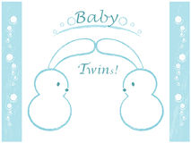 Baby shower, twins Royalty Free Stock Image