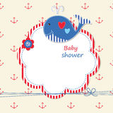 Baby shower with  whale Royalty Free Stock Image