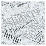 Baby shower word cloud background concept Royalty Free Stock Photography