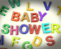 Baby Shower Written In Multicolored Letters Stock Photo