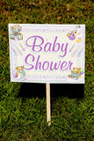 Baby Shower Yard Sign Royalty Free Stock Photos