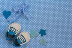 Baby showerbakgrund fotografering för bildbyråer