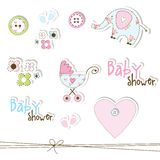 Baby showerdesignelement Royaltyfri Bild
