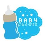 Baby showeretikett Arkivbild