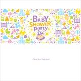 Baby showerhälsningar Fotografering för Bildbyråer
