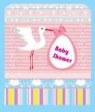 Baby showerhälsningkort Royaltyfri Fotografi
