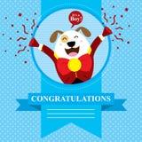 Baby showerhund Arkivbild