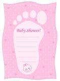 Baby showerinbjudan Royaltyfria Bilder