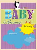 Baby showerinbjudan royaltyfri foto