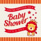 Baby showerinbjudan Fotografering för Bildbyråer