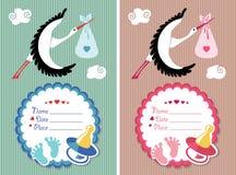Baby showerinbjudan med nyfött behandla som ett barn Royaltyfria Foton