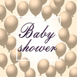 Baby showerinbjudan vektor Arkivfoto