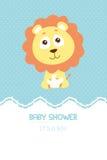 Baby showerinbjudankort Fotografering för Bildbyråer