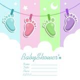 Baby showerinbjudankort Royaltyfria Foton