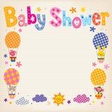 Baby showerinbjudankort Arkivfoton