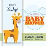Baby showerinbjudankort Arkivbild