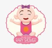 Baby showerinbjudankort Royaltyfri Bild