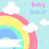 Baby showerinbjudankort Arkivfoto