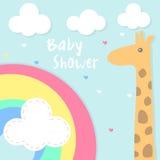 Baby showerinbjudankort Arkivbilder