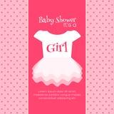 Baby showerinbjudanmall Royaltyfri Foto
