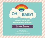 Baby showerinbjudanmall Fotografering för Bildbyråer