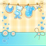 Baby showerkort Arkivfoto