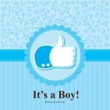 Baby showerkort Fotografering för Bildbyråer