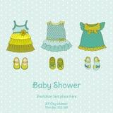 Baby showerkort med snigeln Arkivfoton