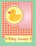 Baby showerkortmall Royaltyfri Bild