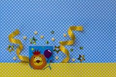 Baby showerparti Leo Zodiac undertecknar Arkivbilder