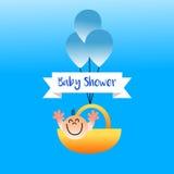 Baby showerpojke vektor illustrationer