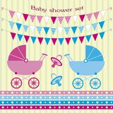 Baby showers set Royalty Free Stock Photography
