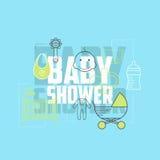 Baby showersymboler Royaltyfria Bilder