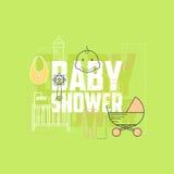 Baby showersymboler Royaltyfri Foto