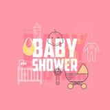 Baby showersymboler Royaltyfri Bild