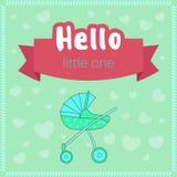 Baby showertabelluppsättning Royaltyfri Bild