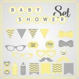 Baby showeruppsättning Arkivfoto