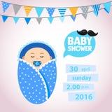 Baby showeruppsättning pojke Royaltyfri Foto