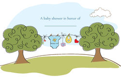 Baby shyower card Stock Images