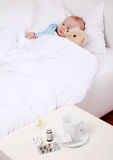Baby is sick royalty free stock photo
