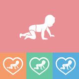 Baby silhouette, vector illustration Royalty Free Stock Images