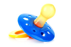 Baby silicone pacifier Royalty Free Stock Images