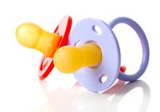 Baby silicone pacifier, isolated Stock Photo